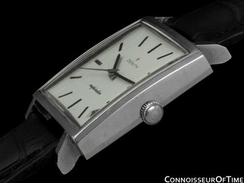 1967 Zenith JFK John F. Kennedy Vintage Respirator Mens Watch - Stainless Steel