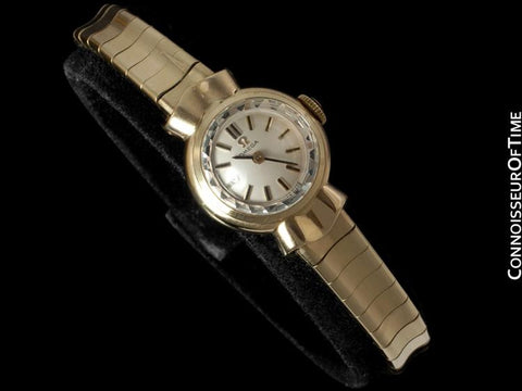 1962 Omega Vintage Ladies Sapphette Watch - Solid 9K Gold
