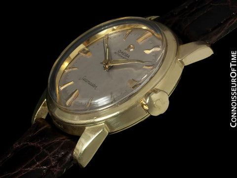 1961 Omega Seamaster Vintage Mens Midsize Automatic Watch - 14K Gold Filled