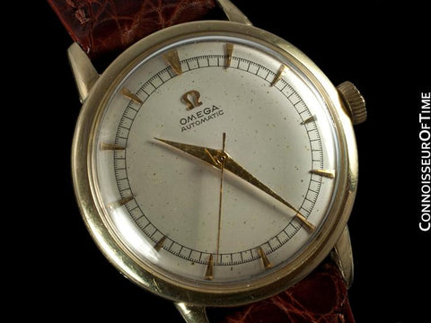 1950 Omega Vintage Mens Watch, Automatic, Waterproof - 14K Gold Filled