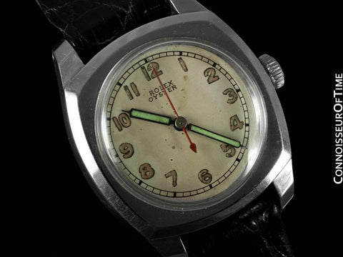 1943 Rolex Oyster Army Vintage Mens Midsize Watch Ref. 3139 - Stainless Steel