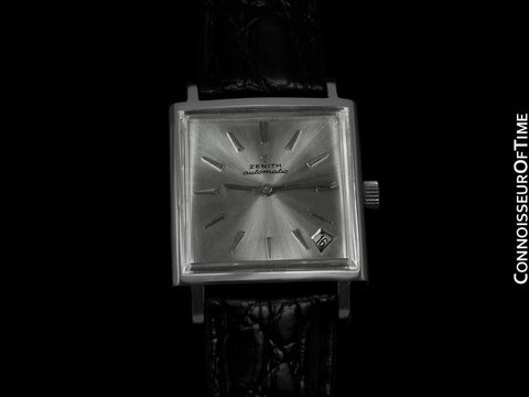 1960's Zenith JFK John F. Kennedy Vintage (Respirator) Automatic Mens Watch - Stainless Steel