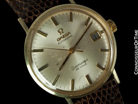 1969 Omega Semaster DeVille Vintage Mens Watch, Automatic - 14K Gold