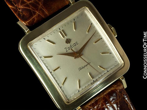 1955 Zodiac Rotographic Vintage Automatic Watch - Army / Navy College Football Game - 14K Gold