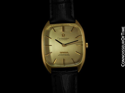 1974 Omega Constellation Chronometer Vintage Mens Watch - 18K Gold Plated & Stainless Steel