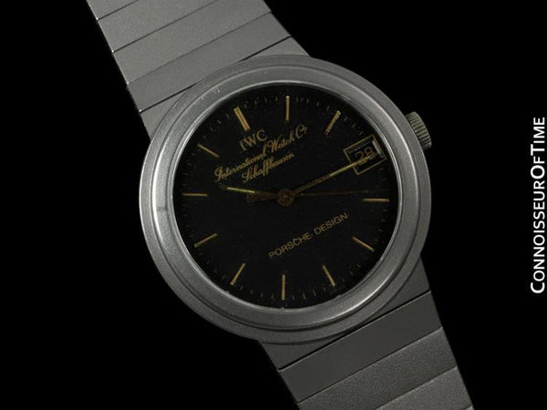 IWC for Porsche Design Vintage Mens Midsize Watch - Titanium with 18K Gold Accents