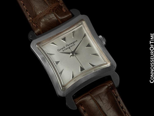 1950's Girard Perregaux Gyromatic Vintage Mens Midsize Watch - Stainless Steel