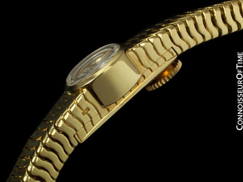 1960's Vacheron & Constantin Ladies Backwind Miniature Bracelet Watch - 18K Gold