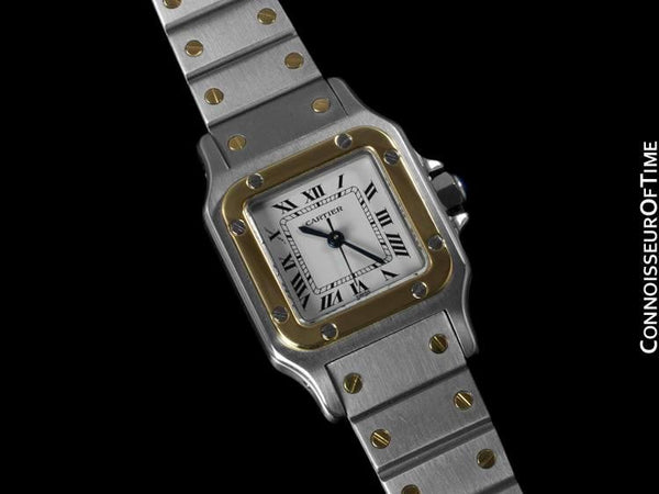 Cartier Ladies Santos Galbee, Automatic - Two Tone, 18K Gold & Stainless Steel
