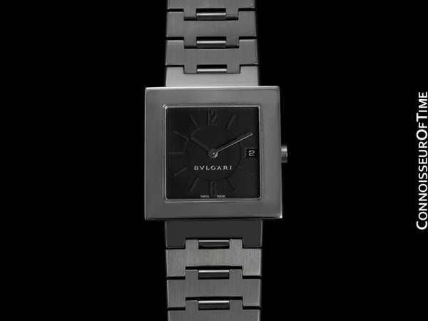 Bvlgari Bulgari Square Quadrato Mens Midsize / Unisex Watch, SQ 27SSD - Stainless Steel