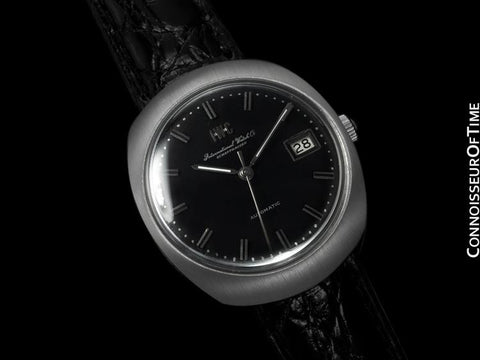 1969 IWC Vintage Mens Watch, Cal. 8541 Automatic, Black Dial with Date - Stainless Steel