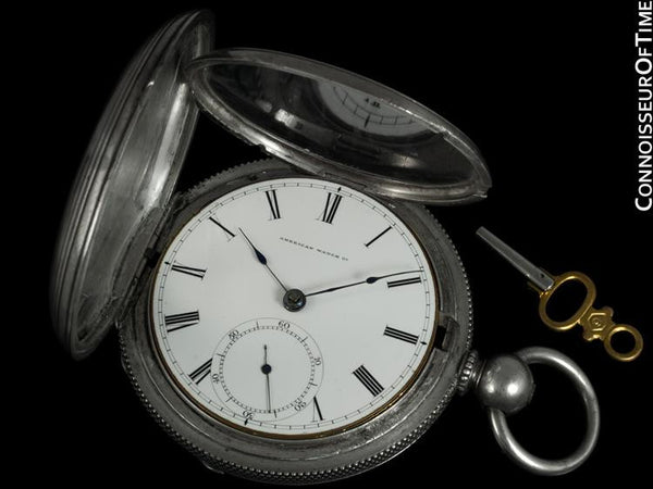 1864 American Watch Co. / Waltham Appleton Tracy Civil War Pocket Watch, 18 size - Coin Silver