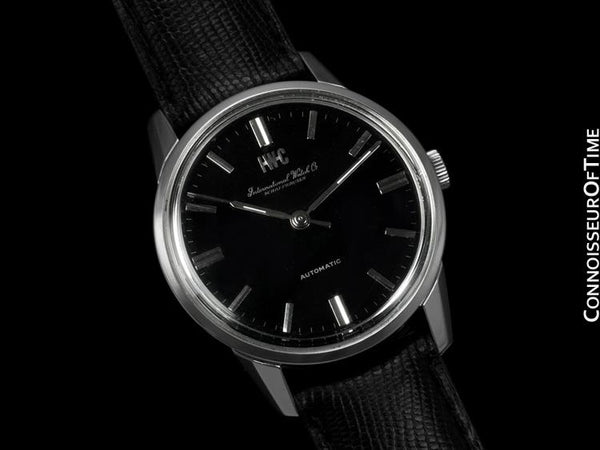 1967 IWC Vintage Mens Watch, Cal. 854 Automatic, Black Dial - Stainless Steel