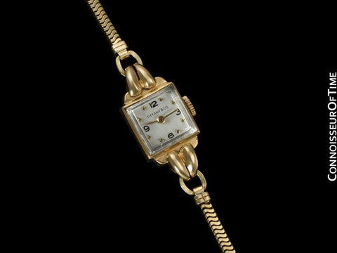 1950's Tiffany & Co. Movado Ladies Vintage Watch - 14K Gold