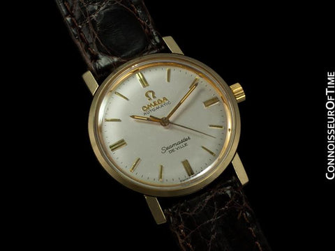 1960's Omega Vintage Midsize Mens Seamaster, Automatic - 14K Gold