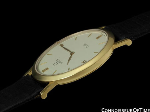 Omega De Ville Mens Midsize Dress Watch - 18K Gold
