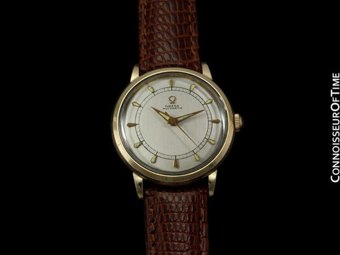 1954 Omega Vintage Mens Mid Century Watch, Automatic, Waterproof - 14K Gold Filled