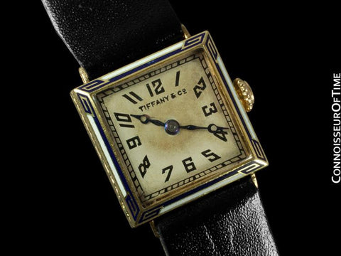 1920's Tiffany & Co. Ladies Vintage Watch - 18K Gold & Enamel