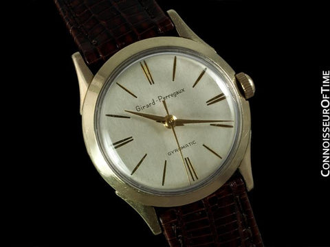 1950's Girard Perregaux Gyromatic Vintage Mens Midsize 31mm - 10K Gold Filled & Stainless Steel