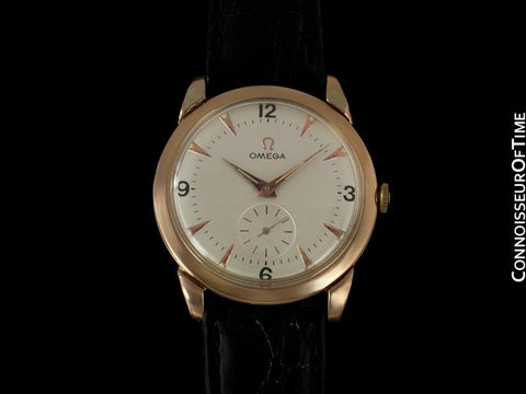 1949 Omega Vintage Mens Mid Century Full Size Watch, Automatic - 18K Rose Gold