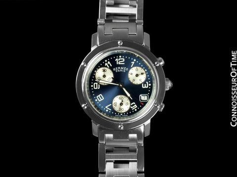 Hermes Ladies Clipper Chronograph Quartz Watch - Stainless Steel