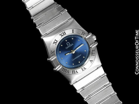 Omega Ladies Constellation Mini 22mm Royal Blue Dial Watch - Stainless Steel