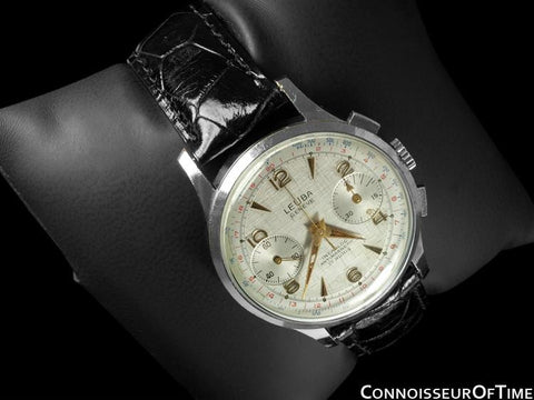 1960's Swiss Vintage Professional & Sporting Mens Chronograph Watch - Stainless Steel