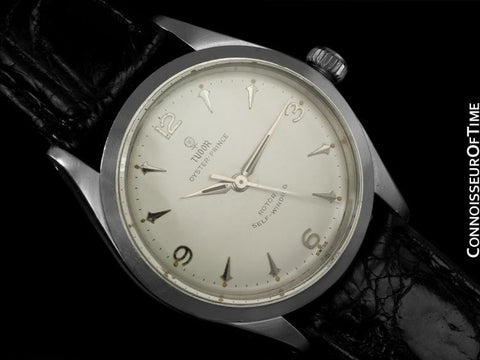 1964 Rolex Tudor Oyster Prince, Ref. 7963, Small Rose Dial, Stainless Steel - Spaceship Markers
