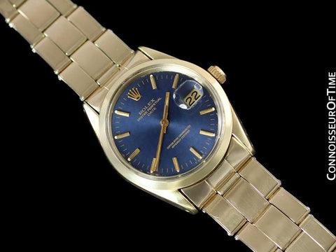 1970's Rolex Date Datejust 34mm Mens Watch - 14K Gold & Stainless Steel