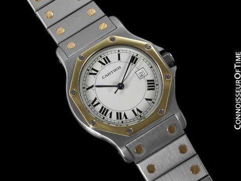 Cartier Santos Octagon Large Ladies/Small Mens Quartz Watch - Stainless Steel & 18K Gold