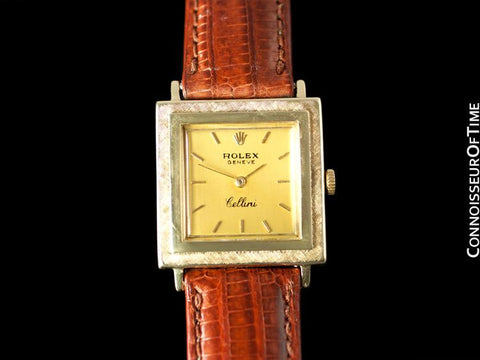 1960's Rolex Cellini Mens Midsize / Large Ladies Handwound Watch, Champagne Dial - 14K Gold