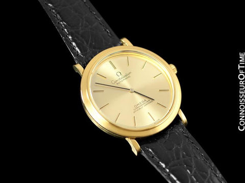 1970's Omega Constellation Mens Automatic Chronometer Watch - 18K Gold Plated & Stainless Steel