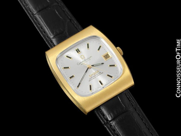 1969 Omega Constellation Vintage Mens Watch - 18K Gold Plated & Stainless Steel