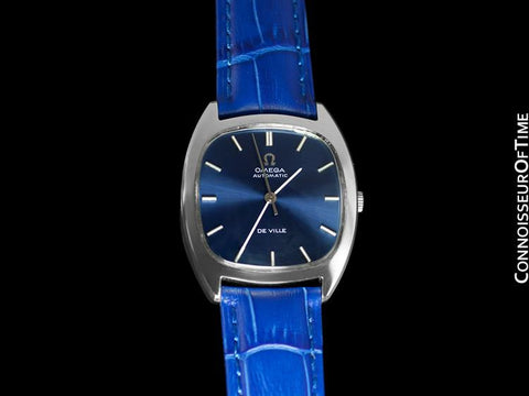 1974 Omega De Ville Vintage Mens Automatic Dress Watch - Stainless Steel