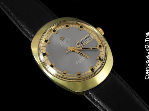 1960's Omega Vintage Mens Seamaster Cosmic Retro Watch, Day Date - 18K Gold Plated