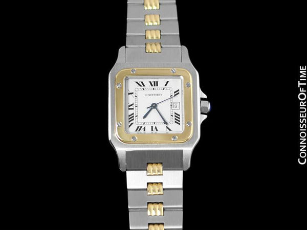 Cartier Santos Galbee Automatique Mens Watch - 18K Gold & Stainless Steel