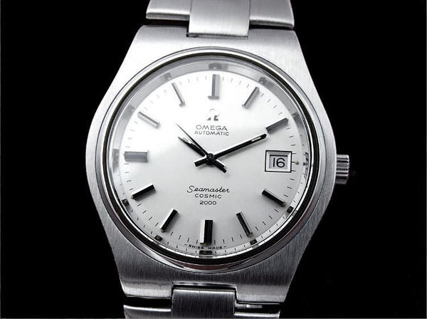 1970's Omega Seamaster Cosmic 2000 Vintage Mens Dive Watch, Date - Stainless Steel