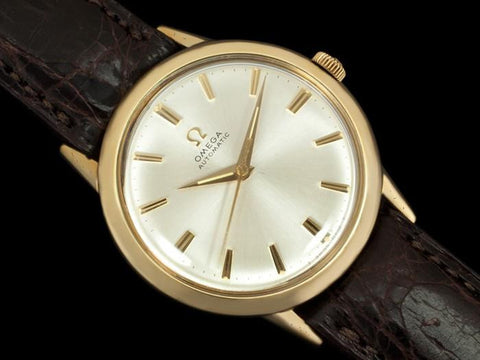 1969 Omega Vintage Mens Classic Automatic Watch - 10K Gold Filled & Stainless Steel