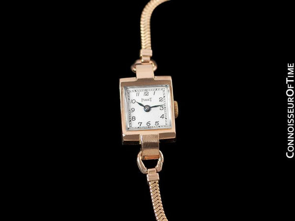 1947 Piaget Vintage Ladies Handwound Dress Watch - 14K Rose Gold
