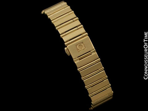 Omega Ladies Constellation Bracelet Watch - 18K Gold & Original Omega Factory Set Diamonds