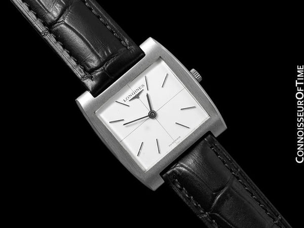 1970's Longines Vintage Mens Midsize Ultra Thin Classic Retro Watch - Stainless Steel