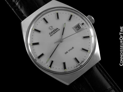 1970's Omega De Ville Vintage Mens Automatic Dress Watch - Stainless Steel