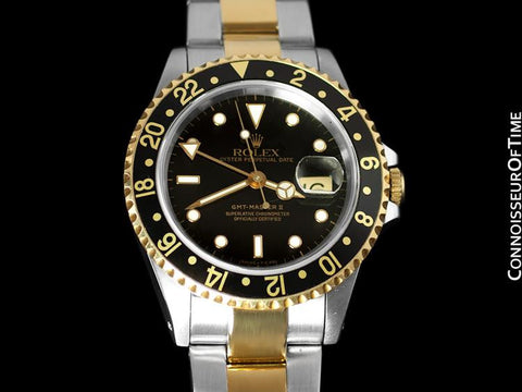 Rolex GMT Master II - Two-Tone Oyster Perpetual Date, Stainless Steel & 18K Gold - Ref. 16713
