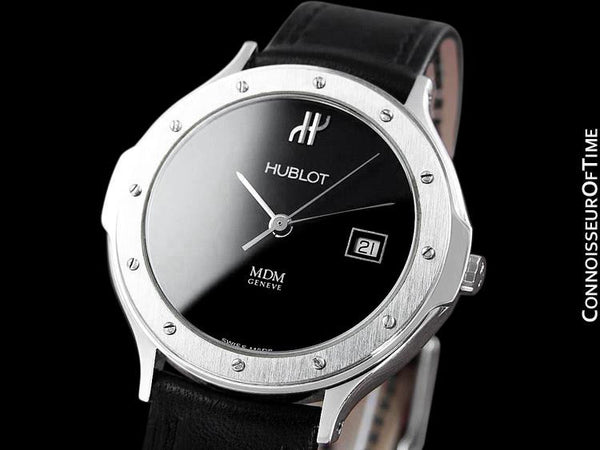 Hublot MDM Midsize Mens Watch with Date - Stainless Steel