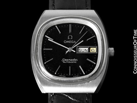 c.1978 Omega Seamaster Vintage Mens Watch, Automatic, Day Date - Stainless Steel