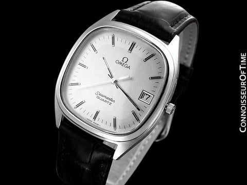 1983 Omega Seamaster Classic Vintage Mens Full Size Retro Quartz Watch - Stainless Steel