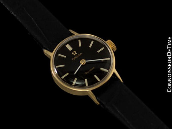 1970 Omega Geneve Vintage Ladies Handwound Dress Watch - 18K Gold