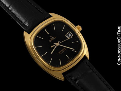 1980 Omega Seamaster Classic Vintage Mens Quartz Watch, Date - Stainless Steel & 18K Gold Plated