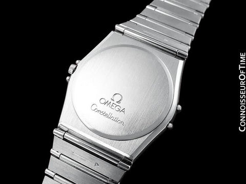 Omega Constellation Mens 35mm Day-Date Quartz Watch, White Dial - Stainless Steel