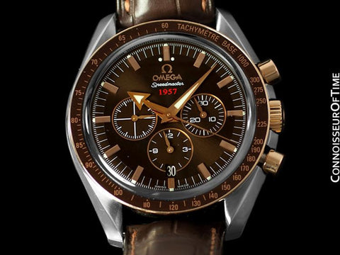 Omega Speedmaster 1957 Broad Arrow Co-Axial Chronograph, Stainless Steel & 18K Rose Gold